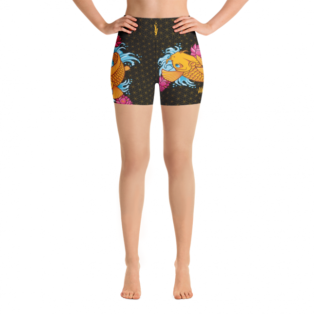 KoiFishShortsBlack_KoiFishShortsBlackAV_KoiFishShortsBlackAR_mockup_Front_White