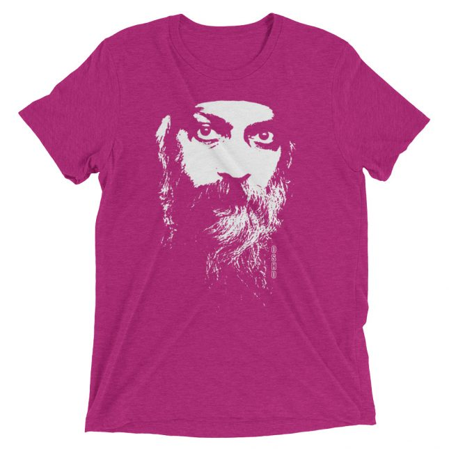Berry Rajneesh Tshirt (Intense Eyes) by YogaYam. Premium Quality Yoga Clothes and Accessories. Made with Love for You.