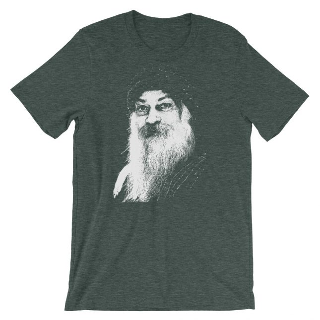 Forest Rajneesh Tshirt (Stencil) by YogaYam. Premium Quality Yoga Clothes and Accessories. Made with Love for You.