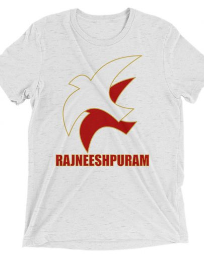 White Fleck RajneeshPuram Tshirt (Birds) by YogaYam. Premium Quality Yoga Clothes and Accessories. Made with Love for You.
