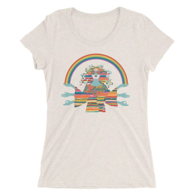 Oatmeal Hippie T-shirt by YogaYam